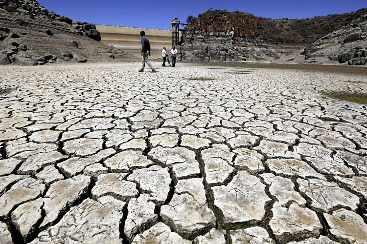 November 08, 2017.   Gamka Dam in Beaufort West are below zero persent and the as the Karoo town goes through a severe drought   .  PICTURE: ESA ALEXANDER/SUNDAY TIMES
