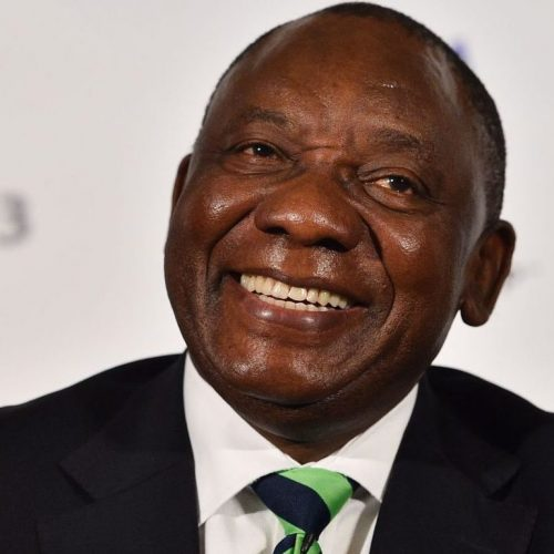 South Africa's deputy President Cyril Ramaphosa takes part in a press conference after South Africa presented their bid to host the 2023 Rugby World Cup in London on September 25, 2017 The World Rugby Council will hear the presentations from candidates France, Ireland and South Africa and the Rugby World Cup Board will make its recommendation on October 31 before the final decision on who will host the 10th edition is made on November 15. / AFP PHOTO / Glyn KIRK        (Photo credit should read GLYN KIRK/AFP/Getty Images)