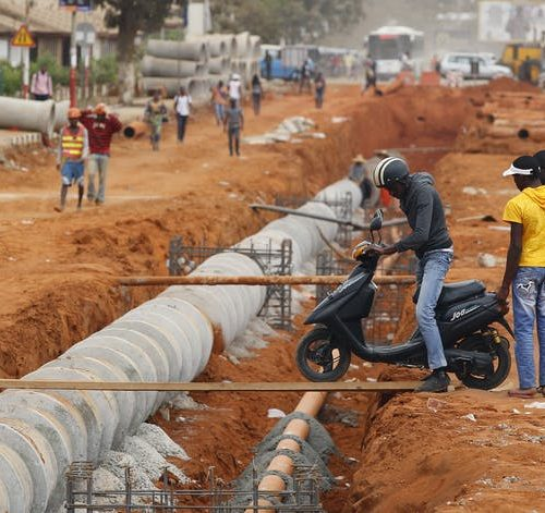 Viana, near Luanda, Angola. China has played a major role in funding infrastructure projects in Africa but the deficit remains huge. Reuters/Siphiwe Sibeko